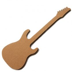 cardboard electric guitar silhouette